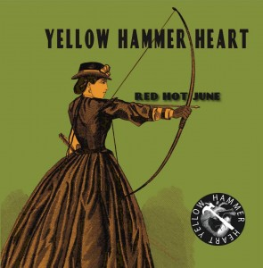 yellow hammer heart album cover red hot june