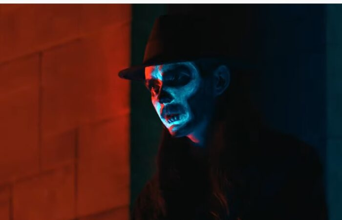 ghostly facepaint for The Witch music video